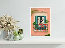Grafika - Barcelona - umělecký tisk (A4 Archivní papír) - 12962659_