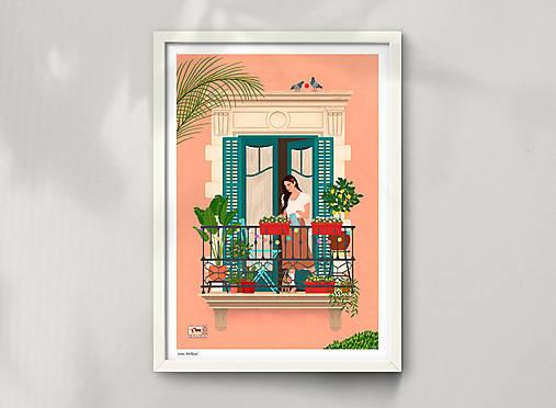 Barcelona - umělecký tisk (A4 Archivní papír)
