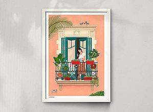 Grafika - Barcelona - umělecký tisk - 12962654_