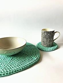 Úžitkový textil - Prestieranie okrúhle na stôl (Mint - Tyrkysová Ø 33 cm) - 12964310_
