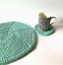 Úžitkový textil - Prestieranie okrúhle na stôl (Mint -Tyrkysová Ø 14 cm) - 12964372_