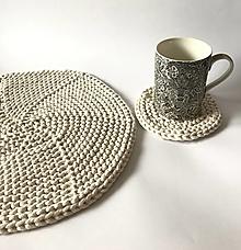 Úžitkový textil - Prestieranie okrúhle na stôl (Natur - ecru Ø 14 cm) - 12964380_