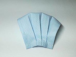 Rúška - Rúško antibakteriálne s drôtikom bodky na belasej,skladom - 12962550_