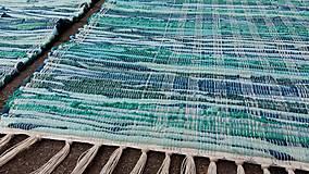 Úžitkový textil - Koberec tkaný ,,tyrkysovo zelený,, 80x180cm - 12964714_
