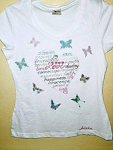 Tričká - Tričko dámske - srdce - 12964929_