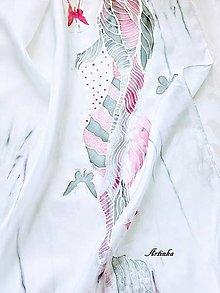 Šály - Šál hodvábny - neha motýľov - 12965046_