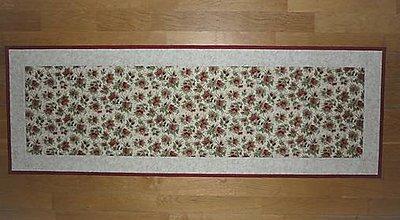 Úžitkový textil - Obrus, štóla na stôl s ružičkami - 12965151_