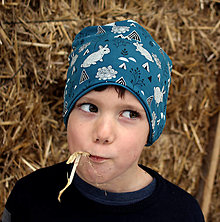 Detské čiapky - Zajko polárny - 12965514_