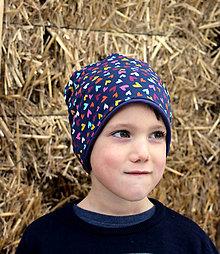 Detské čiapky - Srdečná ... dvojvrstvová čiapka - 12965520_