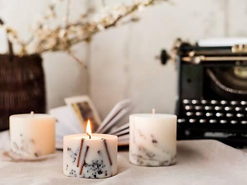 Svietidlá a sviečky - Pokojný večer ( škorica a klinčeky ) - handmade, eko, zdraviu nezávadná sójová sviečka - 12961244_