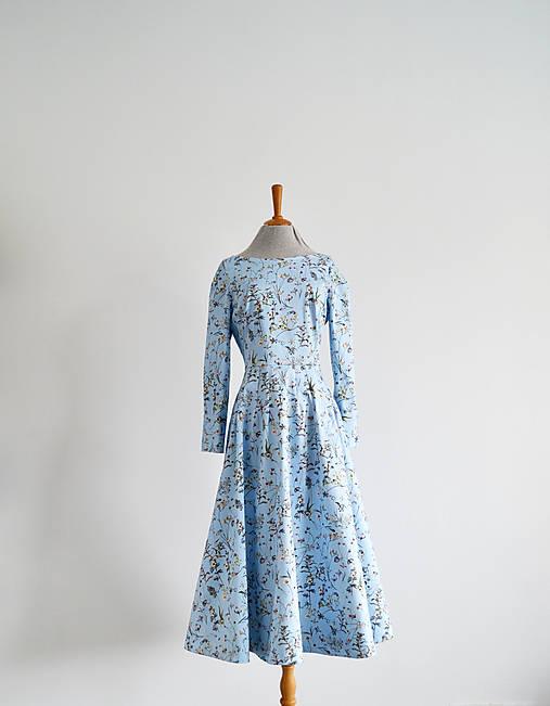Šaty - Bavlnené šaty s bylinkovým dezénom  - 12962540_