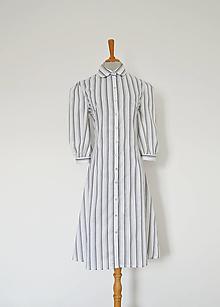 Šaty - Upcy áčkové košeľové šaty s lesklými gombíčkami - 12962198_