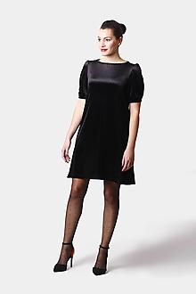 Šaty - Šaty zamatové voľné - 12968906_