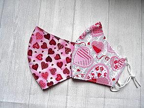 """Rúška - Bavlnené rúška   """" Hearts """" - 12968585_"""