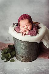 Detské čiapky - Čiapka pre novorodenca - 12969684_