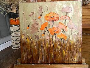 Obrazy - Oranžovobronzové maky - 12967132_