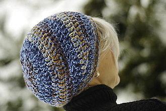 Čiapky - farebnica modro-hnedá:) čiapka - 12968011_
