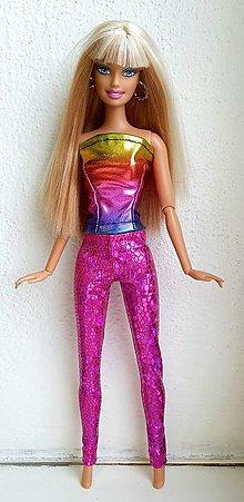 Hračky - Cyklaménové diamantové legíny pre Barbie - 12969622_