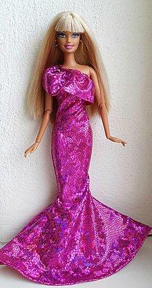 Hračky - Cyklaménové spoločenské šaty pre Barbie - 12969643_