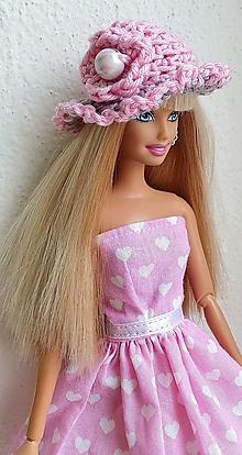Hračky - Háčkovaný ružový klobúk pre Barbie - 12969695_