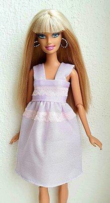Hračky - Lilavá nočná košeľa pre Barbie - 12969746_