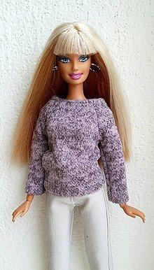 Hračky - Svetrík s dlhým rukávom pre Barbie - 12969932_