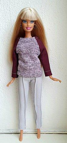 Hračky - Elegantné nohavice pre Barbie - 12969943_