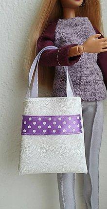 Hračky - Koženková kabelka s bodkami pre Barbie - 12969979_