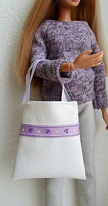 Hračky - Biela koženková kabelka pre Barbie - 12969994_