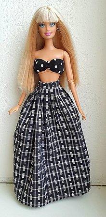 Hračky - Dlhá maxi sukňa pre Barbie - 12970070_