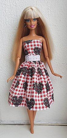 Hračky - Šaty so srdiečkami pre Barbie - 12970093_