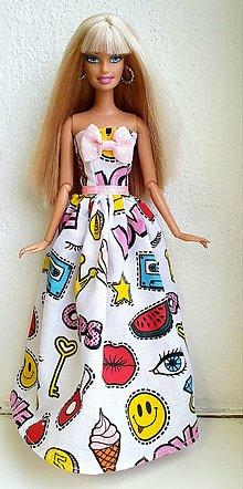 Hračky - Komiksové dlhé šaty pre Barbie - 12970163_