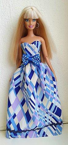 Hračky - Geometrické dlhé šaty pre Barbie - 12970212_