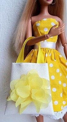 Hračky - Koženková kabelka s kvietkom pre Barbie - 12970250_