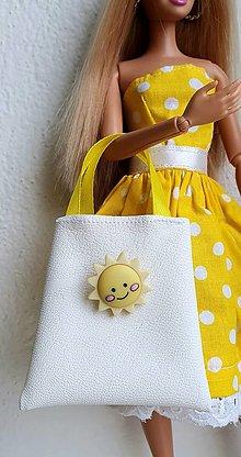 Hračky - Biela koženková kabelka pre Barbie - 12970265_