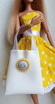 Hračky - Biela koženková kabelka pre Barbie - 12970278_