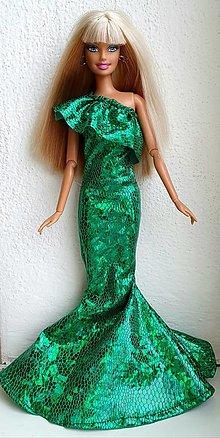 Hračky - Zelené spoločenské šaty pre Barbie - 12970284_