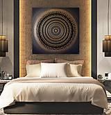 Obrazy - Mandala ÚSPECH A HOJNOSŤ (kvet šťastia) 100 x 100 - 12970344_