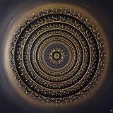 Obrazy - Mandala ÚSPECH A HOJNOSŤ (kvet šťastia) 100 x 100 - 12970347_