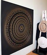 Obrazy - Mandala ÚSPECH A HOJNOSŤ (kvet šťastia) 100 x 100 - 12970351_