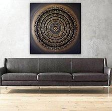 Obrazy - Mandala ÚSPECH A HOJNOSŤ (kvet šťastia) 100 x 100 - 12970343_