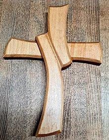 Dekorácie - Drevorezba Kríž - 12969064_