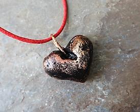Náhrdelníky - Srdce odvážne. - 12965550_