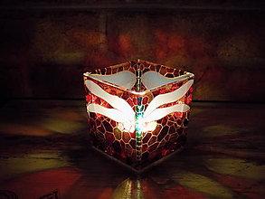 Svietidlá a sviečky - Svietnik na čajovú sviečku - Dragonfly - 12969592_