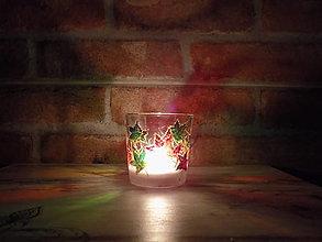 Svietidlá a sviečky - Svietnik na čajovú sviečku - Autumn Leaves - 12969607_