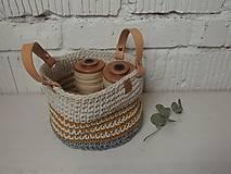 Úžitkový textil - Košík háčkovaný malý - 12966193_