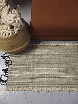 Úžitkový textil - Vlnený koberec ručne tkaný, biely - 12966959_