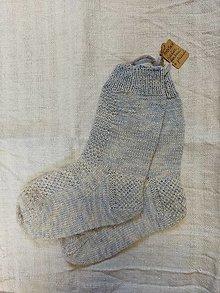 Obuv - Ponožky ručne farbené a pletené - 12966123_