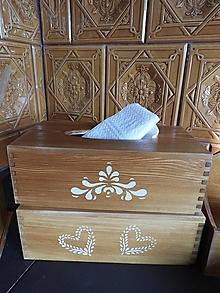 Krabičky - Krabička na kapesníky/na servítky rustic dub - 12968823_