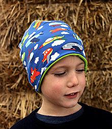 Detské čiapky - Malý letec ... dvojvrstvová čiapka - 12967910_